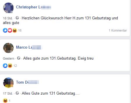 Christopher, Marco und Tom gratulieren zum 131. Geburtstag von Hitler