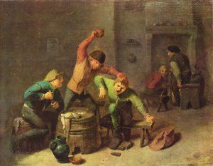 Bauernrauferei beim Kartenspiel (Adriaen Brouwer – https://de.wikipedia.org/wiki/Datei:Adriaen_Brouwer,_Bauernrauferei_beim_Kartenspiel_(c._1630–1640).jpg)