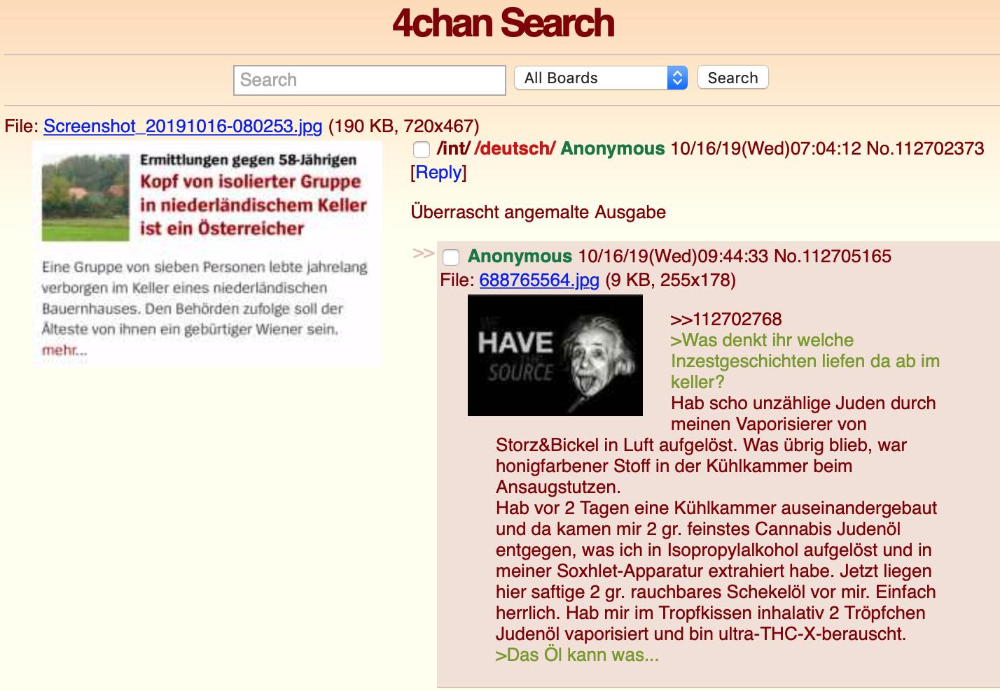Widerlicher Antisemitismus auf 4chan