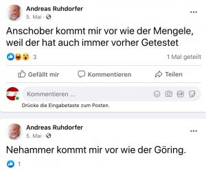 Andreas Ruhdorfer Anschober-Mengele, Nehammer-Göring