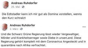 Andreas Ruhdorfer zu Edtstadler und Regierung