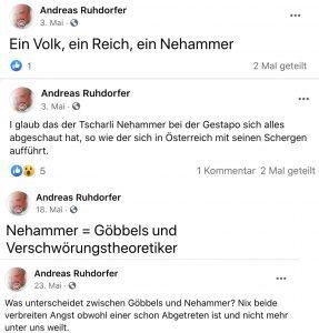 Andreas Ruhdorfer zu Nehammer: Gestapo, Goebbels