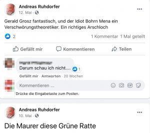 Andreas Ruhdorfer zu Bohrn Mena, Maurer