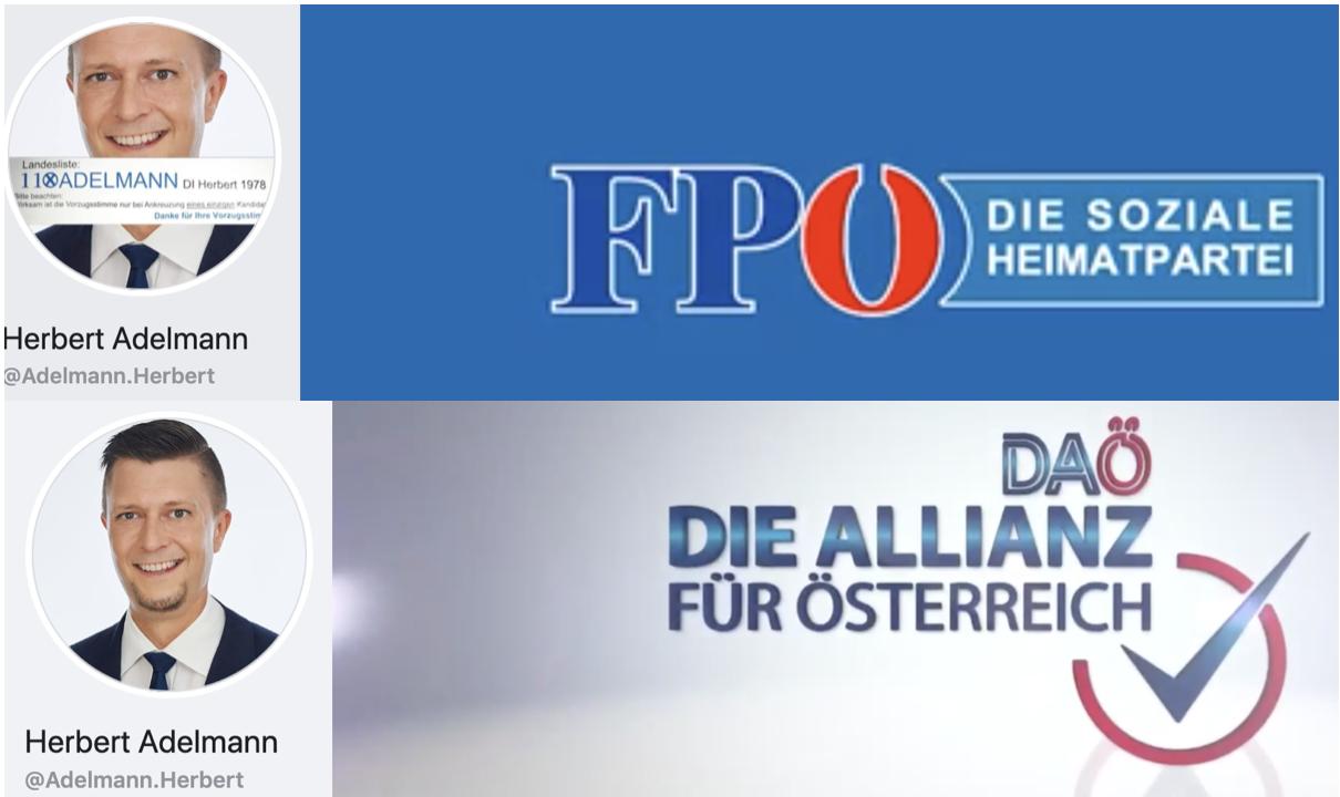 Herbert Adelmann: von der FPÖ zu DAÖ