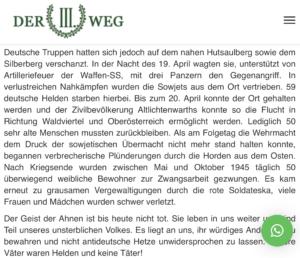 """Der III. Weg: Heldengedenken in Altlichtenwarth (NÖ) – """"Unsere Väter waren Helden und keine Täter!"""""""
