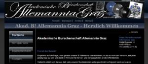 Website Allemannia Graz 2011