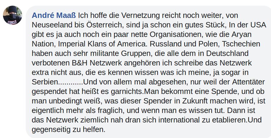 Facebookeintrag André Maaß (Screenshot Exif-Recherche)
