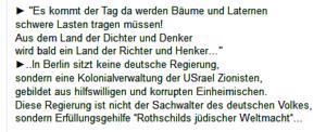 """Antisemitische Hetze beim Staatenbund: """"Usrael Zionisten"""", """"Rothschilds jüdischer Weltmacht"""""""
