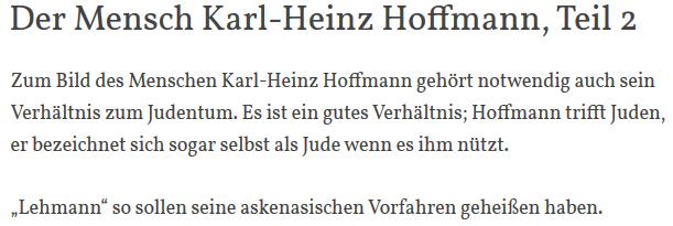 Antisemitischer Schwachsinn von Siegfried M. zu Hoffmann