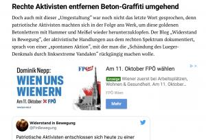 """FPÖ schaltet in identitärer """"Tagesstimme"""" ein Inserat"""