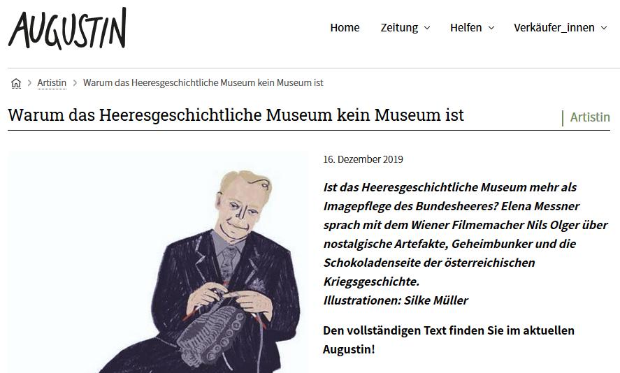 Augustin 16.12.19: Warum das Heeresgeschichtliche Museum kein Museum ist
