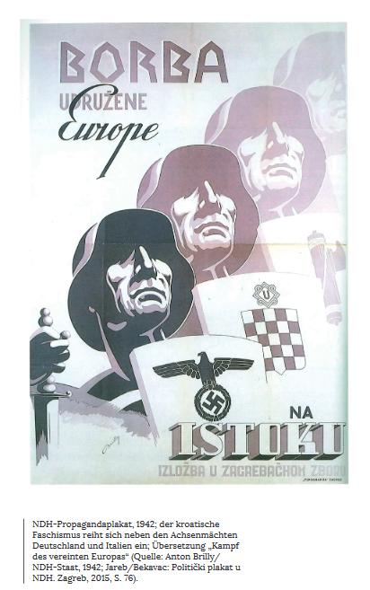 "NHD-Propagandaplakat (aus der Broschüre ""Mythos Bleiburg"")"