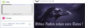 """Facebook-Header von Thomas K.-C. alias Baldur Wien """"Odins Raben sehen eure Taten !"""""""