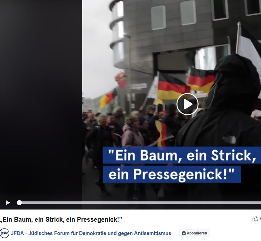 Berliner Nazidemo mit Nagel