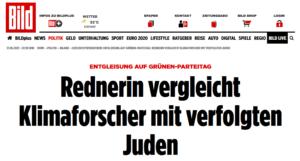"""""""Bild"""" und Emcke: """"Rednerin vergleicht Klimaforscher mit verfolgten Juden"""""""