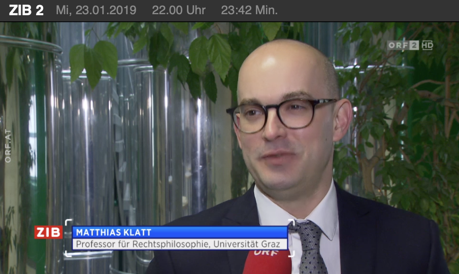 Matthias Klatt (Screenshot ZiB 2, 23.1.19)