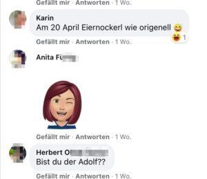 """Herbert O. an Herbert M.: """"Bist du der Adolf??"""""""