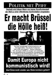 """""""Er macht Brüssel die Hölle heiß"""" – """"Volksanwalt Dr.rer.pol. Karl Steinhauser"""" (Screenshot """"Bravo Österreich – Politik ohne Maske"""")"""