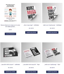 Brötzner-Shop II: Flyer und Aufkleber