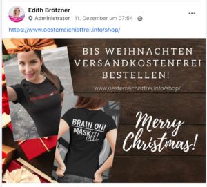 Weihnachtsaktion im Brötzner-Shop