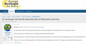 """Voting in Österreich landet in französischem Neonazi-Forum: """"Was denkt ihr? Wird McDonald's die partizipative Demokratie akzeptieren?"""""""