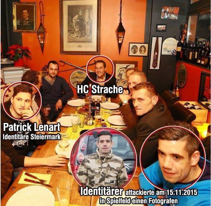 Neben Strache und den Identitären Patrick Lenart auch AUF-Polizist Josef H.