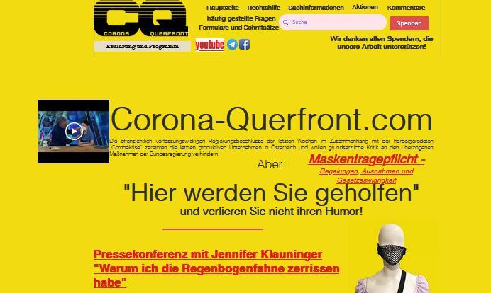 Website Corona-Querfront