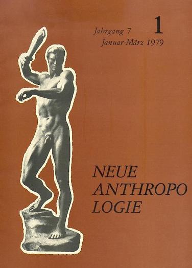 """Cover der mittlerweile eingestellten Zeitschrift """"Neue Anthropologie"""""""