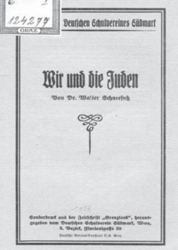 """Deutscher Schulverein: """"Wir und die Juden"""""""