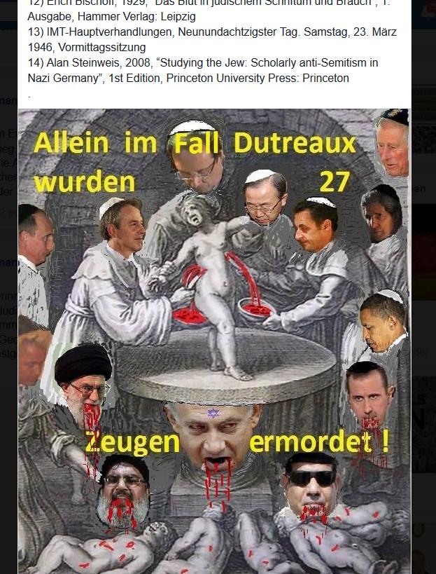 """Ritualmordlegende in der Gruppe """"Deutsches Reich"""""""