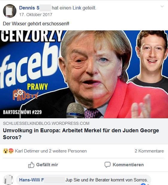 """""""Soros erschießen"""" in der Gruppe """"Deutsches Reich"""""""