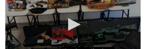 Die beim Verdächtigen S. gefundenen Waffen