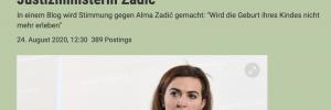 Medien berichten über Drohungen gegen Alma Zadi? (hier derstandard.at)