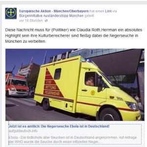 Europäische Aktion mit Ebola-Demagogie auf Facebook