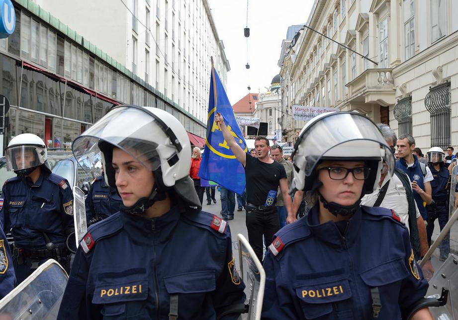 """Neonazistische Europäische Aktion am """"Marsch für die Familie""""; <a href=""""https://www.flickr.com/photos/daniel-weber/14420048922/in/set-72157644761780568"""" target=""""_blank""""></noscript><img class="""
