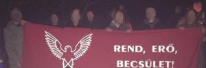 die militant neonazistische MNA (Magyar Nemzeti Arcvonal/Ungarische Nationale Front)