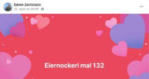 "Edwin Z. ""Eiernockerl mal 132"""