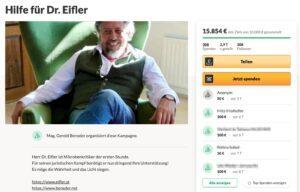 """""""Hilfe für Dr. Eifler"""", organisiert von RA Beneder"""