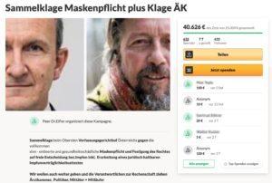 """Beneder/Eifler: """"Sammelklage Maskenpflicht plus Klage ÄK"""""""