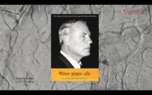 """Screenshot Video Erkenntnisunterdrueckung mit Hamer-Buch """"Einer gegen alle"""""""