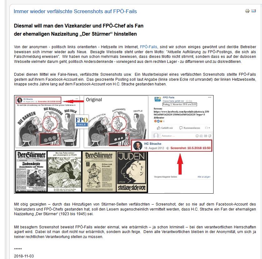 """Fake-News im Posting von """"Erstaunlich"""""""
