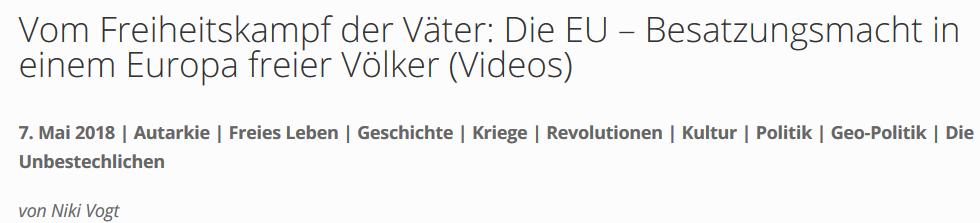 "Für ein Europa freier Völker: ""EU-Besatzungsmacht"""