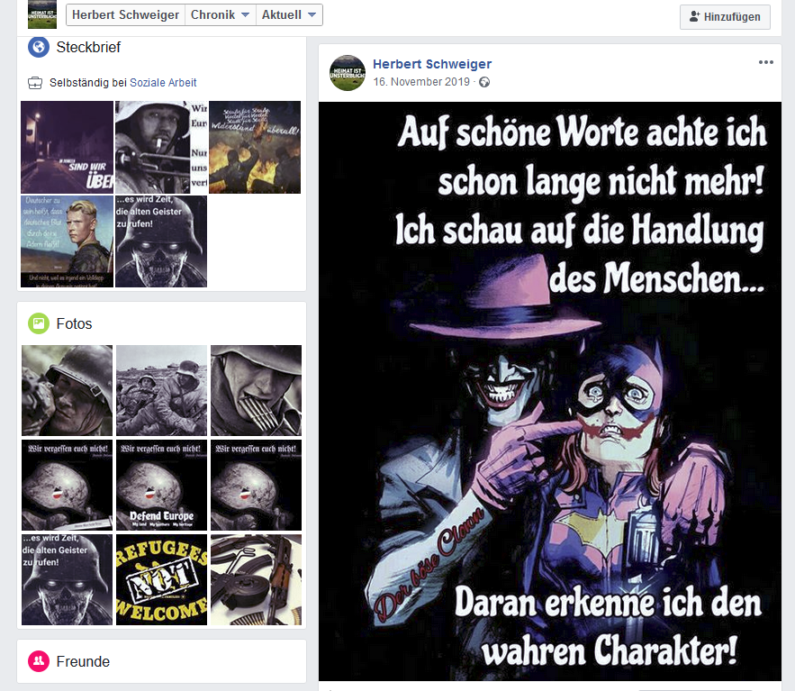 FB-Profil von Jürgen W. alias Herbert Schweiger
