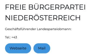 FBP Niederösterreich: unbesetzt