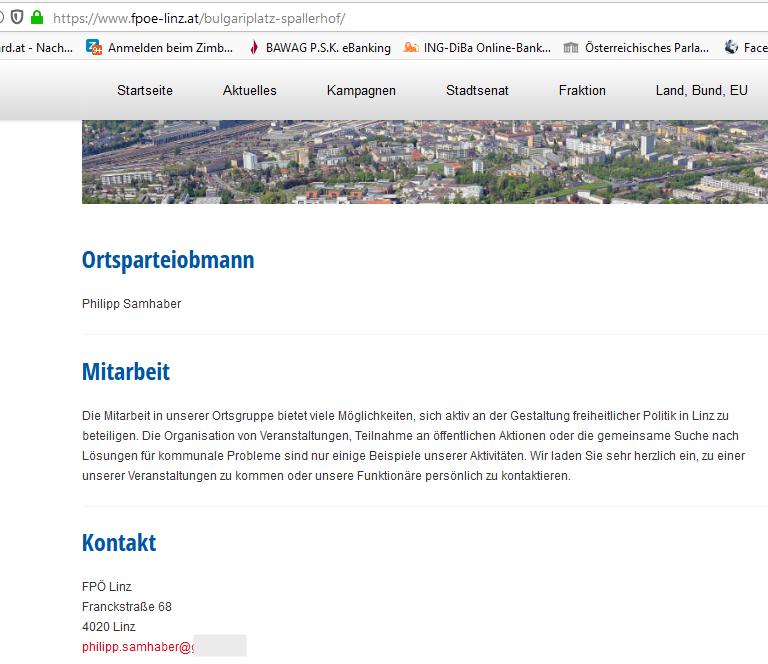 FPÖ Linz Spallerhof: Ortsparteiobmann Samhaber Philipp