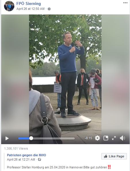 """FPÖ Sierning teilt """"Patrioten gegen die NWO"""" (Verschwörungstheorie """"Neue Weltordnung"""")"""