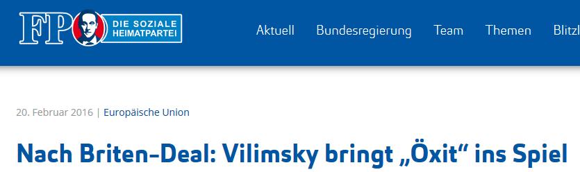 FPÖ-Vilimsky bringt Öxit ins Spiel (Variante 1)