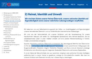 """FPÖ-Parteiprogramm: """"der deutschen Volks?, Sprach- und Kulturgemeinschaft"""""""