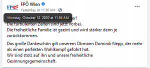"""FPÖ Wien: """"freiheitliche Familie ... stärker denn je"""", """"mehr als perfekter Wahlkampf"""""""