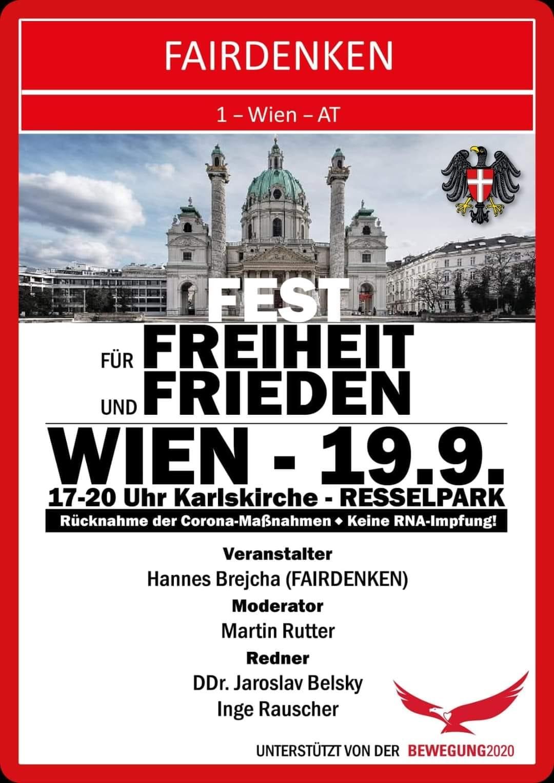 Fairdenken-Demo mit Inge Rauscher